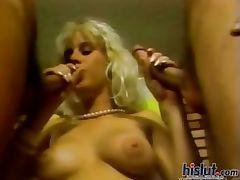 This slut is on her knees