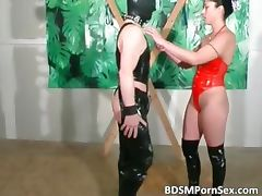 Horny guy with leather mask is getting part1
