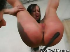 Tit spanking s and m Rope Action intense part1