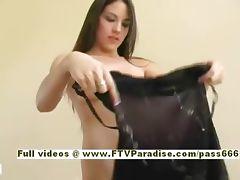 Esra Ingenious hot brunette chick dressing teasing tube porn video
