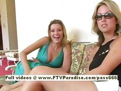 Carli teenage blonde babe poses in public tube porn video