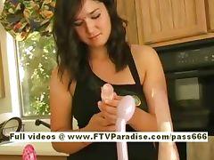 Sandra cute brunette babe goes home tube porn video
