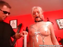 Totally helpless blonde girl is wrapped part3