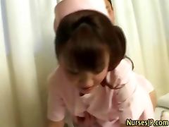 Nurse asian hottie gets wet tube porn video