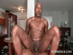 Anal sex with gay afro muscled masseur