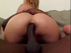 Blond With Big Boobs Sucks And Fucks Big Black Dick