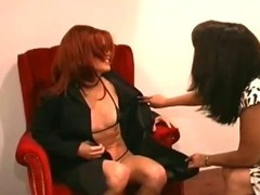 Super horny lesbian ass licking action