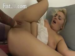 Brutal vaginal fisting of delicate babes
