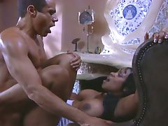 Big tits ebony opens for hardcore pussy invasion tube porn video