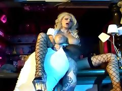 Busty milf does anal sex in black fishnet stockings tube porn video