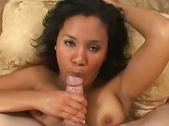 Busty black girl sucks and swallows 226NT tube porn video
