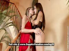Anitta and Dominika lesbo teen girls kissing tube porn video