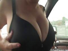 Big tits blonde girl sucking dick part5