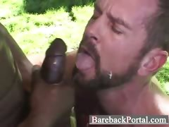 Interracial barebacking hunks tube porn video