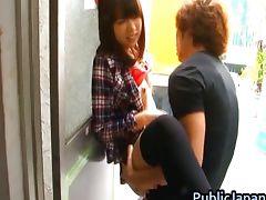 Haruka Itoh Asian babe has sex in public