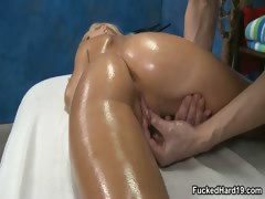 Sexy blonde babe gets her horny wet tube porn video