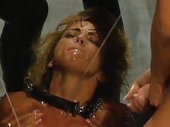 Lesbian plastic penis action