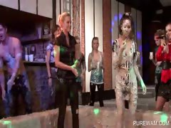 Blondie gets dirty in sexy mud fights tube porn video