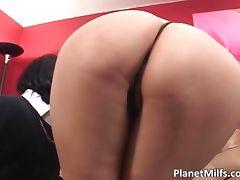 Very horny Asian milf rides big cock tube porn video