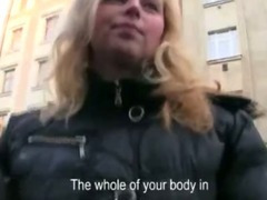 Big tits euro sweetie pulled in public and fucked inside the hotel for some cash