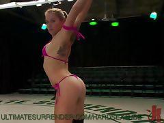 Horny Wrestling Lesbians tube porn video