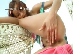Russina girl Natasha rubbing