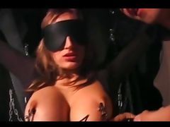 German woman gets fucked in a bodystocking tube porn video