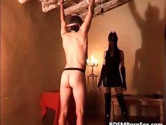 Horny kinky perverted chick spanks naked tube porn video