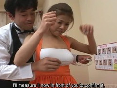Subtitled Japan big breast brothel tan escort showcase tube porn video