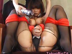Airi Pretty Asian model with big tube porn video