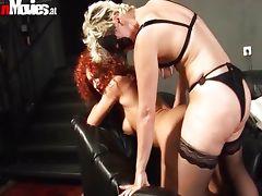 Horny lesbians dildo fucking their cunts