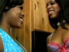 Vanessa and Monet Ebony Lesbian Pussy Eating