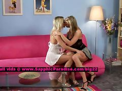 Salma and Karie lusty lesbo girls teasing tube porn video