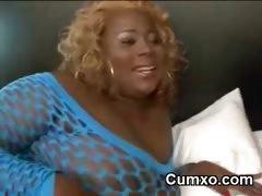 Black Afro Hot Chubby Slut Sucking BBC tube porn video