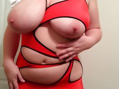 36G tits Lateshay red mini skirt and heels strip tube porn video
