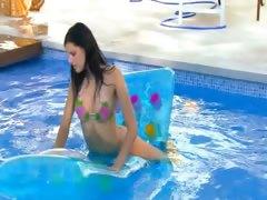 Brunette spanish princess swimming tube porn video