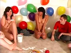 Party game teens cock sucking