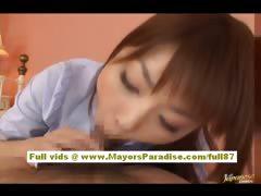 Risa Kasumi amateur asian babe does blowjob tube porn video