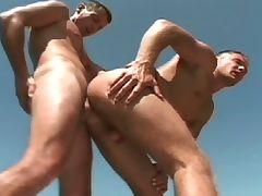 Hot gay sex outdoors
