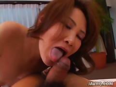 Sweet Kirei Hayakawa giving hot blowjob