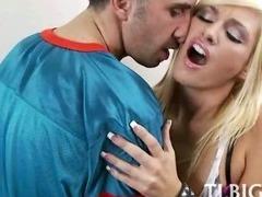 Great teen threesome fuck tube porn video