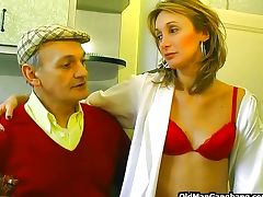 Papy seduces neighbor's wife tube porn video