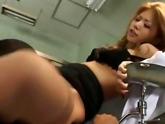 Squirting jap nasty nurse gets fucked