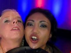Euro cum slut blowjob action and cum facials