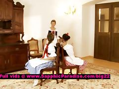 Fiva and Mya and Zoe lusty lesbian teens undressing