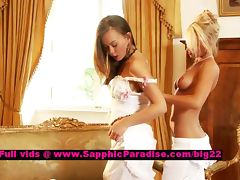 Hailee and Mya lovely lesbian girls fingering tube porn video