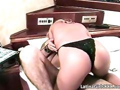 Cute blonde latina hoe gets fucked hard