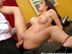 Adrenalynn is naughty at office