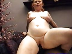 Redhead Fiona takes her first black cock