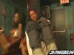Ebony girl fingers pussy then fucks tube porn video